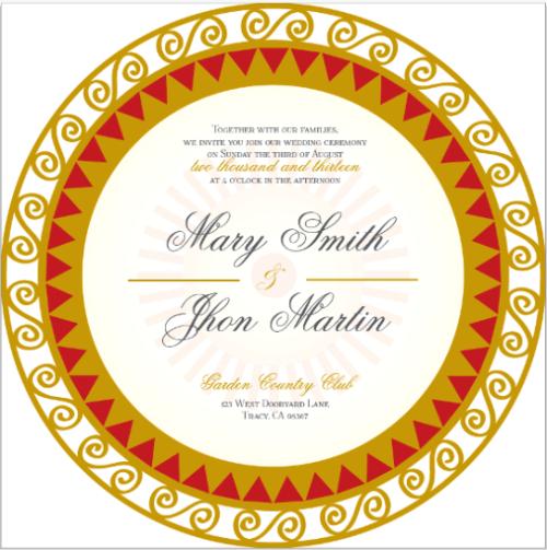wedding invitations - Peru by IJORERE The Invitation Inc