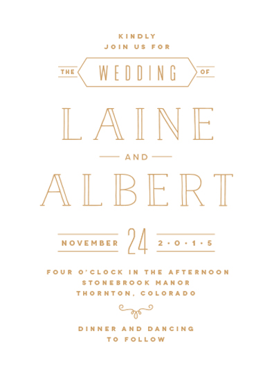 wedding invitations - Noble Letterpress by Carrie ONeal