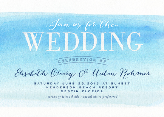 wedding invitations - Watercolor Wedding by Carrie ONeal