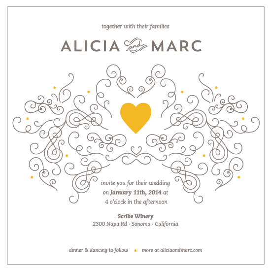 wedding invitations - Ornaments and Love by Tais H