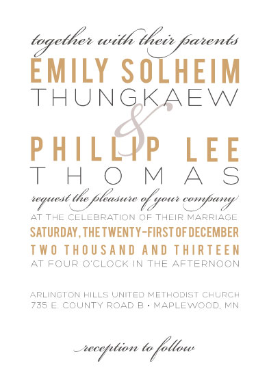 wedding invitations - Contemporary Elegance by Monica Francis