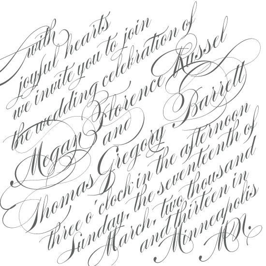 wedding invitations - Slanted Script by Monica Francis