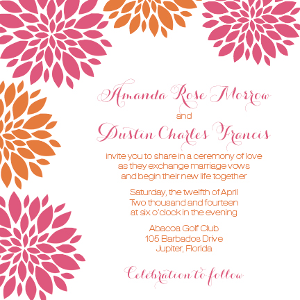 wedding invitations - Bountiful Blossoms by Sennett Designs