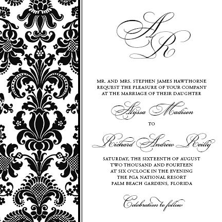 wedding invitations - Delightful Damask by Sennett Designs