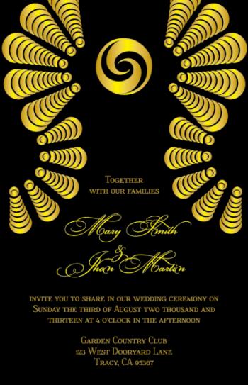 wedding invitations - Ashabi by IJORERE The Invitation Inc