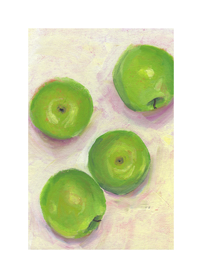 art prints - Green Apples by Lindsay Megahed