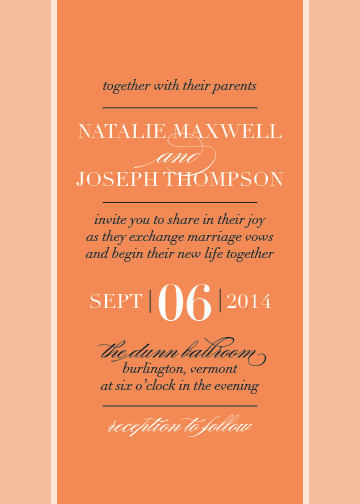 wedding invitations - Elegant Color Block by Megan Elgin