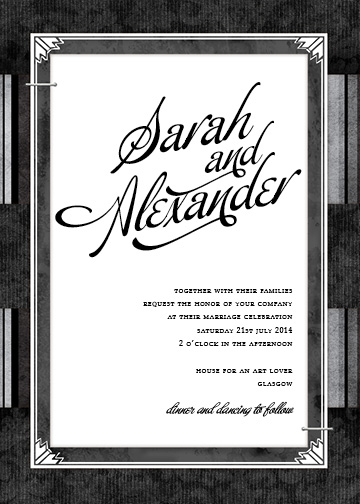 wedding invitations - Old Movie by Victoria Brand
