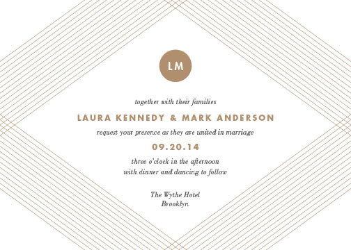 wedding invitations - Linear by Sandra Picco Design