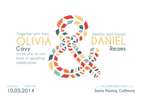 wedding invitations - Tribal  Ampersand by Gina Lesica-Dujmovic