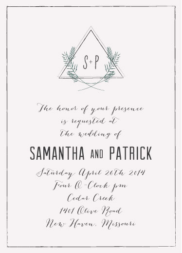 wedding invitations - Ethereal Script by Heather Eikel