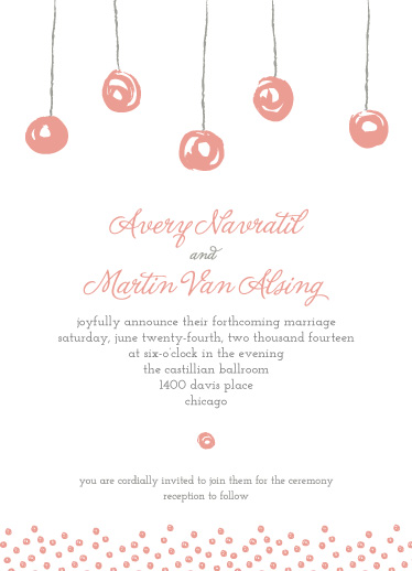 wedding invitations - Floating Lanterns by Heather Steed