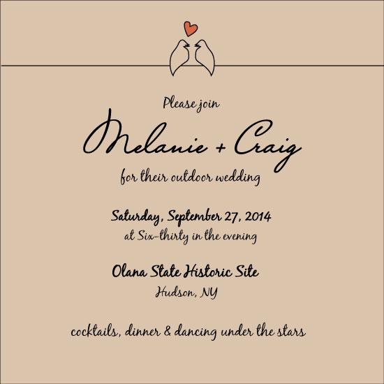wedding invitations - Lovebirds by Dana Jennings
