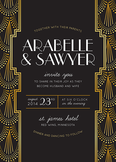 wedding invitations - Mr. Gatsby at Minted.com