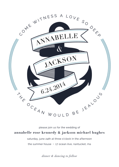 wedding invitations - Anchor Away by Morgan Newnham