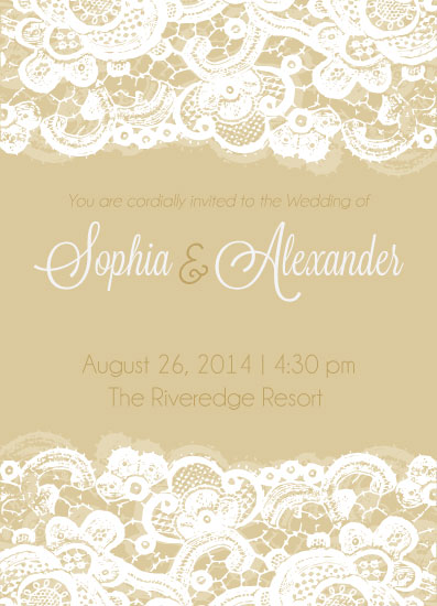 wedding invitations - Laced with Love by Allie Rhode