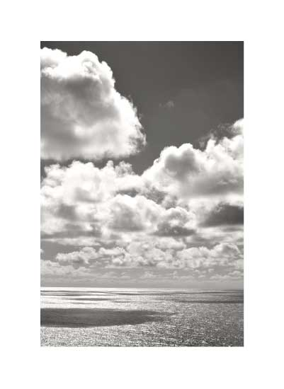 art prints - Clouds Over Silver Ocean on a Sunny Day by Chika Fujisawa