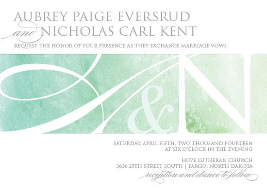 wedding invitations - Watercolor Initials by Megan Elgin