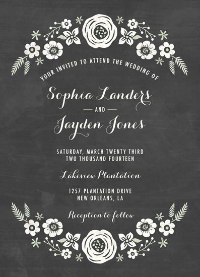 wedding invitations chalk floral arch at minted com