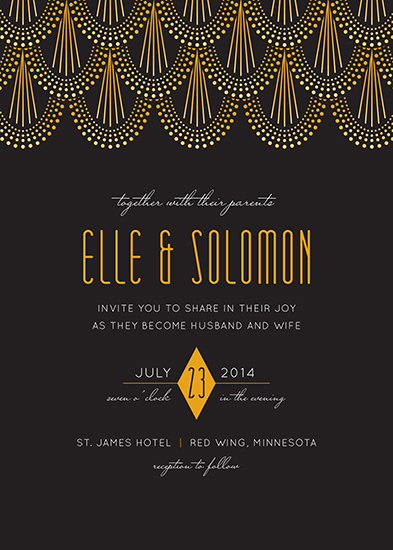 Wedding invitations jazz age at minted wedding invitations jazz age by holly whitcomb stopboris Image collections