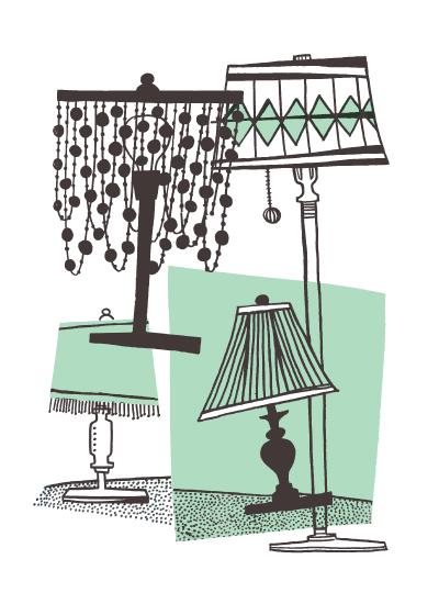 art prints - Lamps! by Carmi Cioni