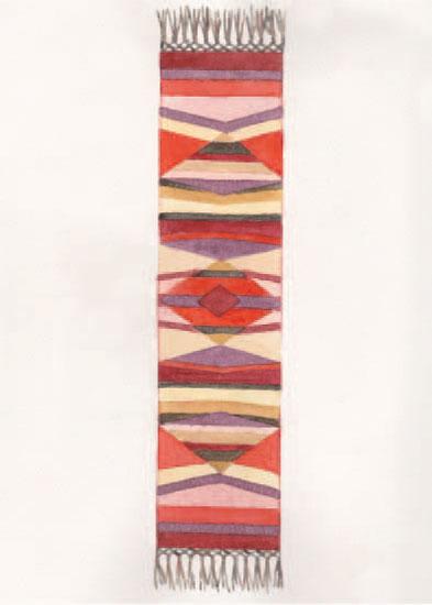 art prints - warm kilim rug by Lynne Lincoln