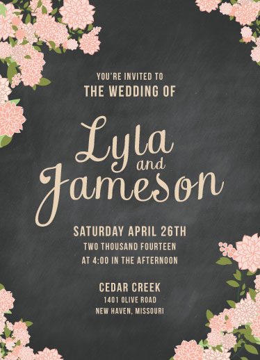 wedding invitations - Boho Florals by Heather Eikel