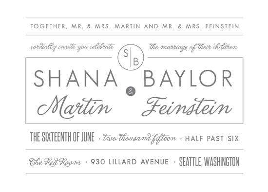 wedding invitations - Blocked Typography by Lindsey Chin-Jones