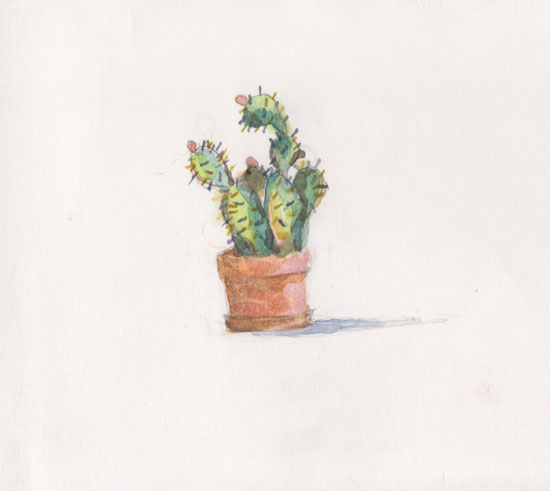 art prints - spiky succulent by Lynne Lincoln
