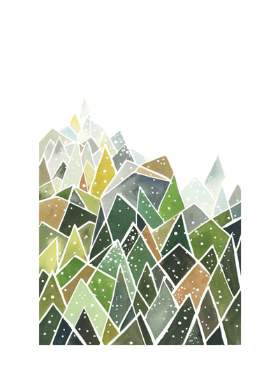 art prints - Landscape of Triangles and Dots by Yao Cheng