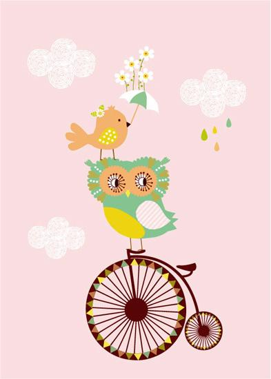 art prints - Baby Owl by Tamara Csengeri
