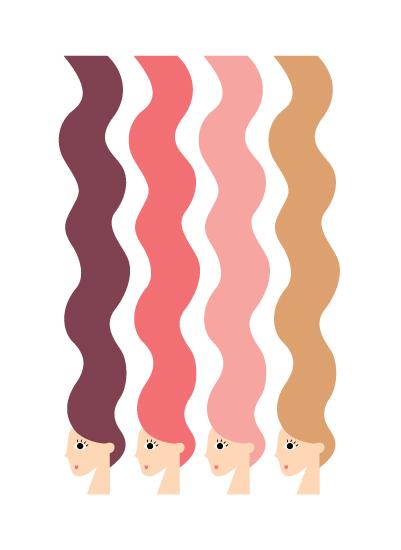 art prints - Hello Hair by Morgan Ramberg