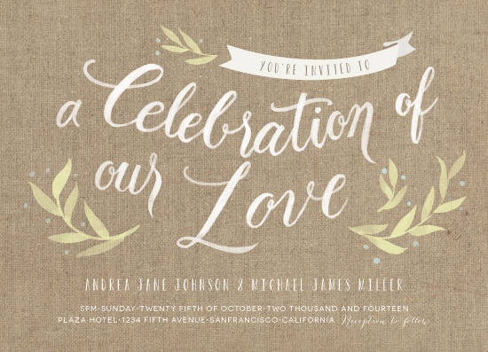 wedding invitations - Celebration of our love by Four Wet Feet Studio