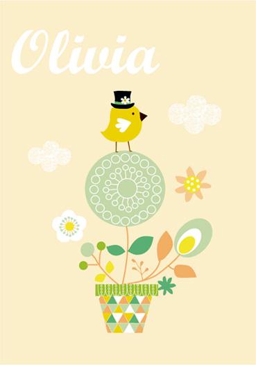 art prints - Happy Baby Bird by Tamara Csengeri