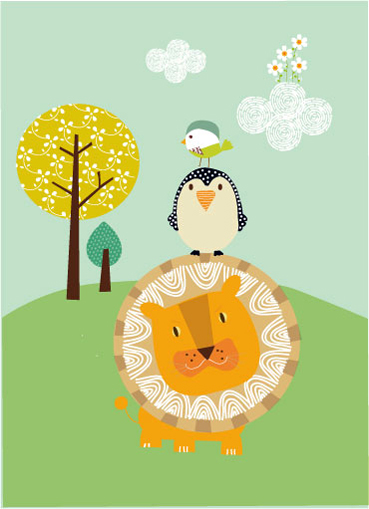 art prints - A happy day by Tamara Csengeri