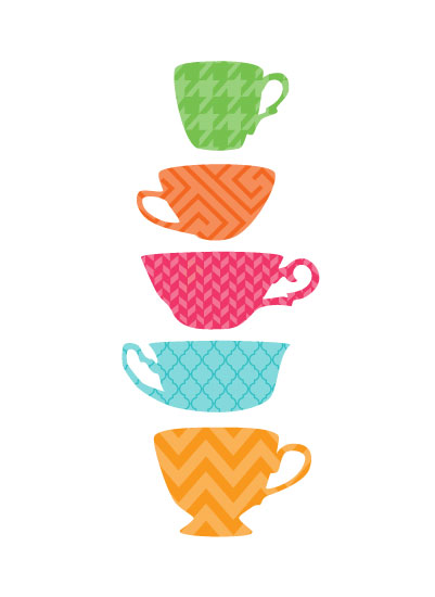 art prints - Tea Cups by Nicole C