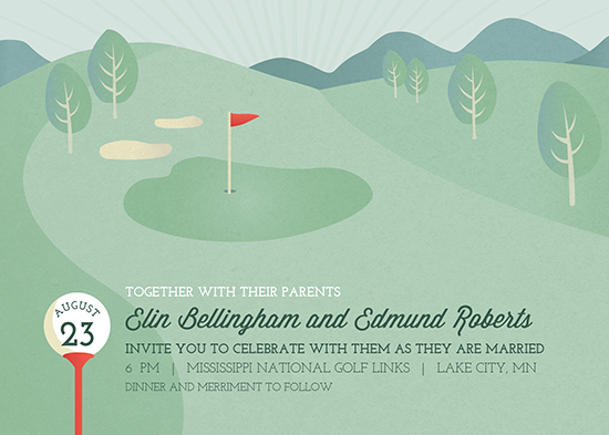 wedding invitations - The Back Nine by Holly Whitcomb