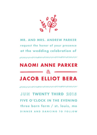 wedding invitations - Love Stacked by Carolyn MacLaren