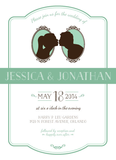 wedding invitations - Kissing Silhouettes by Jaci Steinberg