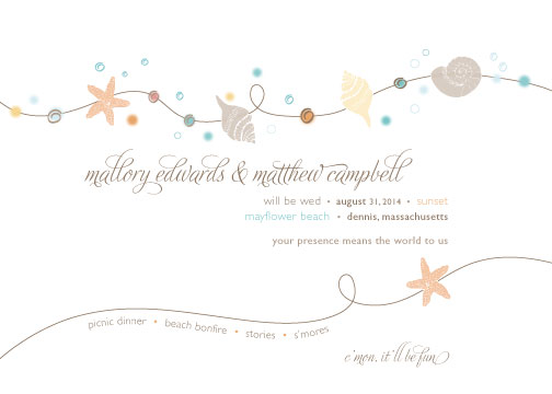 wedding invitations - Wedding on the Cape by Maggie Ziomek