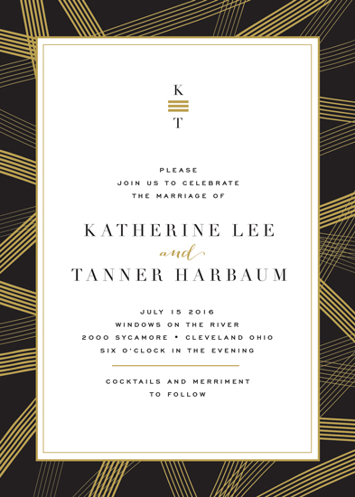 wedding invitations - Gold Notes by Carrie ONeal