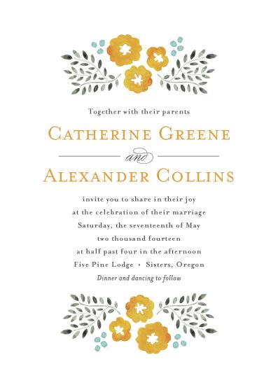 wedding invitations - Watercolor Wildflowers by Olivia Raufman