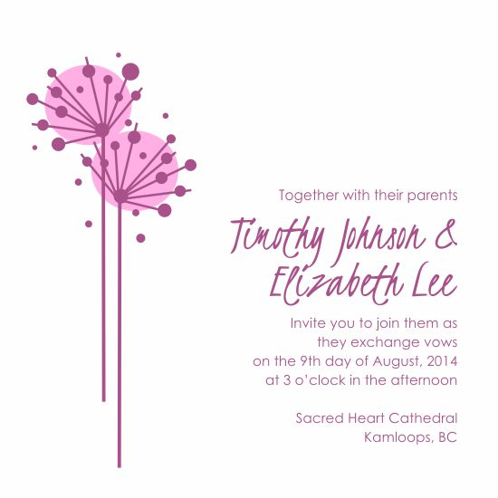 wedding invitations - modern floral by Laura Bittante