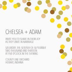 Modern Wedding Invitation - Gold Design