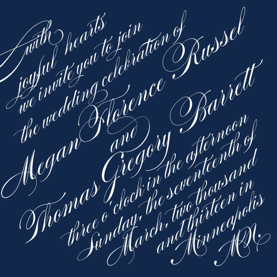 wedding invitations - Slanted Script by Monica Francis