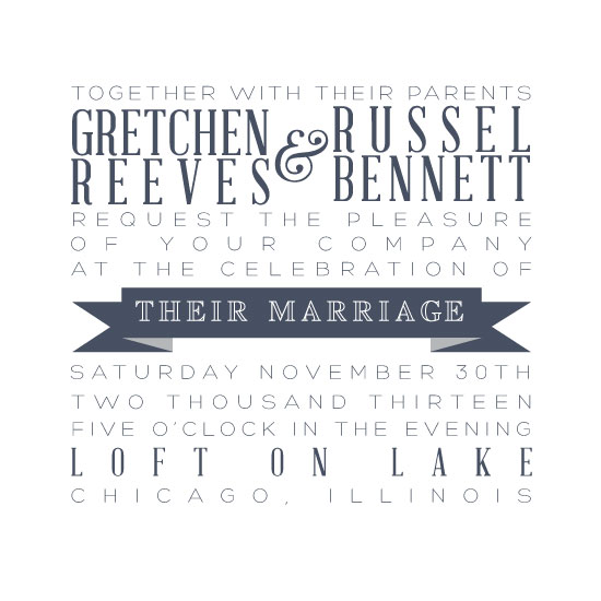 wedding invitations - Simple Type by Monica Francis
