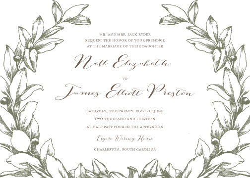 wedding invitations - Under the Olive Tree by Lily Lasuzzo