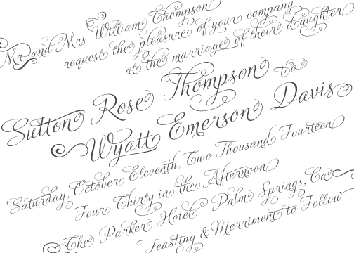 wedding invitations - Tilted Typography by Lily Lasuzzo