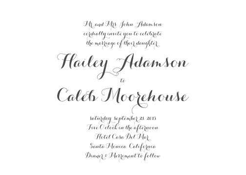 wedding invitations - Clean & Simple Elegance by Lily Lasuzzo