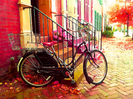 art prints - Awesome Autumn Bike by Diane Turner